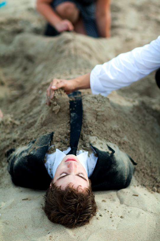 buried under the sand
