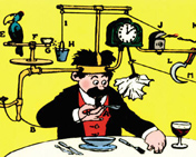Rube Goldberg and similar cartoonists