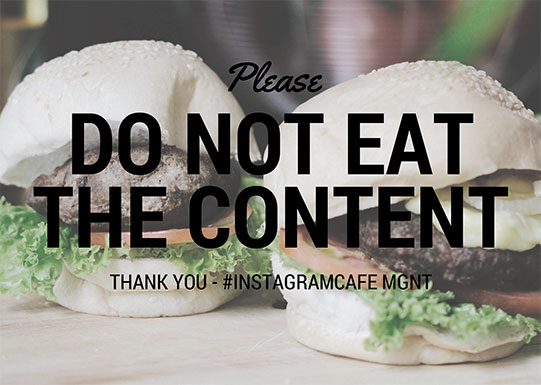 Please Do Not Eat the Content