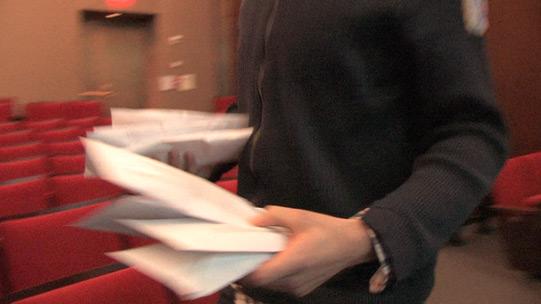 distributing envelopes