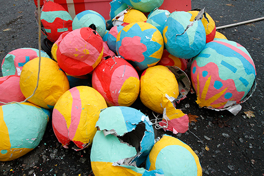 destroyed piñatas