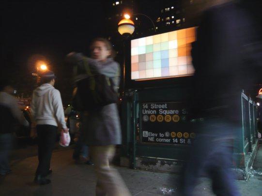 Pixelator at Union Square