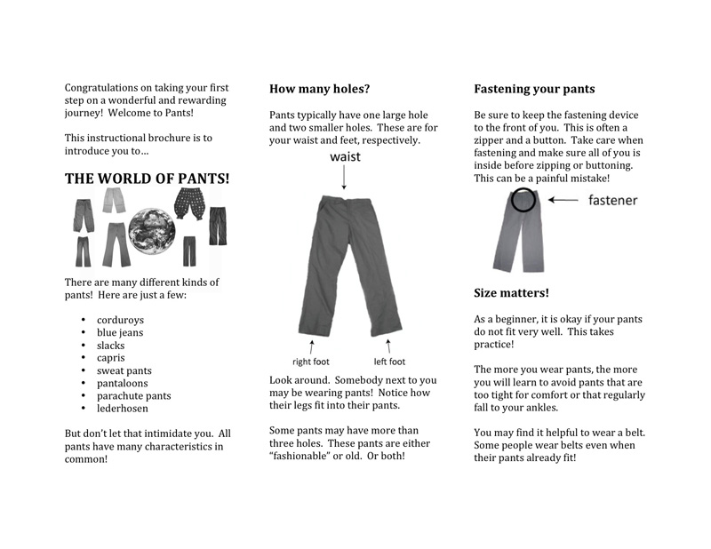 Welcome to Pants Page 1