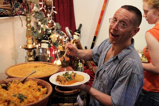 Howard at the buffet