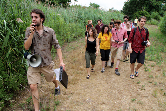 Yoni leads the way to Bottle Beach