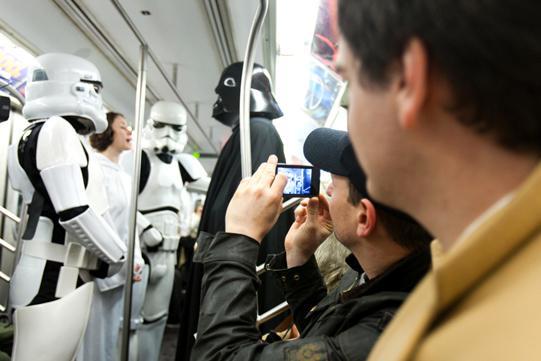commuter snaps photo