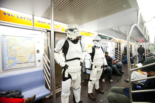 Stormtroopers enter