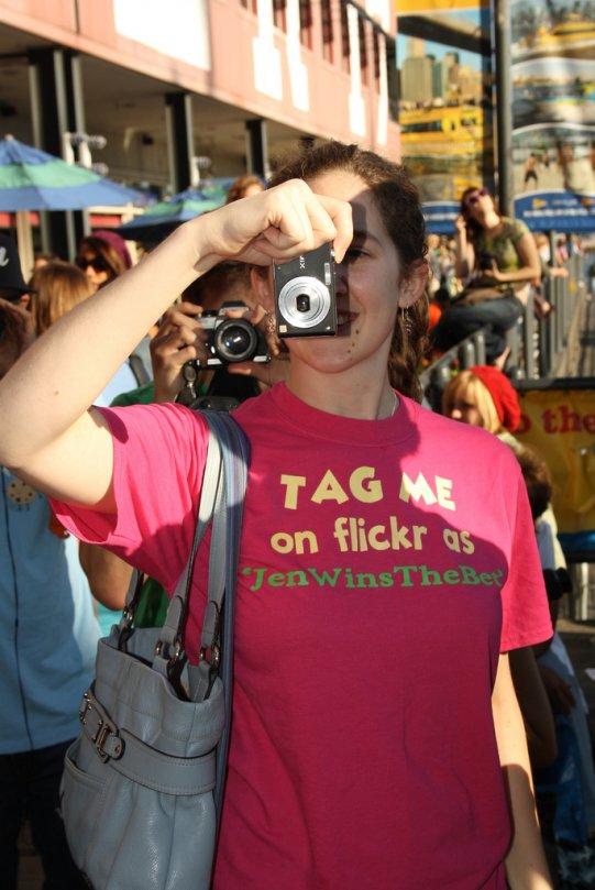 Jen snapping a photo