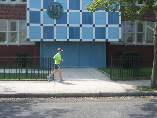 a lone runner